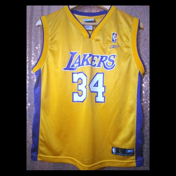 993d1bedfac Reebok Shirts & Tops | Nba Lakers Shaq Oneal 34 Rbk Jersey Lg1416 ...